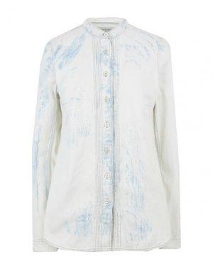 Джинсовая рубашка CARE LABEL. Цвет: слоновая кость