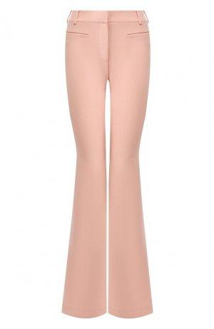 Шерстяные расклешенные брюки со стрелками Tom Ford. Цвет: розовый