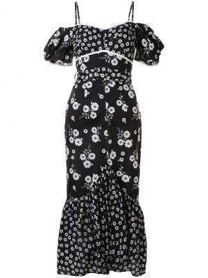 Платье миди Izabella Alice McCall. Цвет: черный