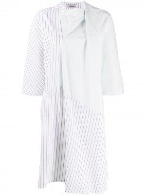 Платье-рубашка Tuck Chalayan. Цвет: синий