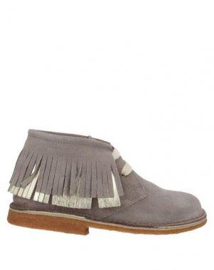 Полусапоги и высокие ботинки EUREKA. Цвет: голубиный серый
