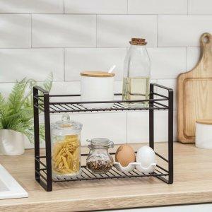 Полка кухонная для банок и специй 31х13х23 см, цвет коричневый Доляна