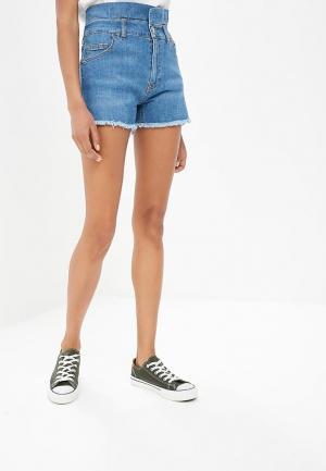 Шорты джинсовые Fornarina. Цвет: синий