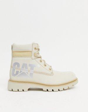Бежевые кожаные ботинки Caterpillar Lyric Bold-Бежевый Cat Footwear