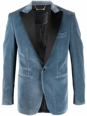 Бархатный пиджак Lord Fit Philipp Plein. Цвет: синий