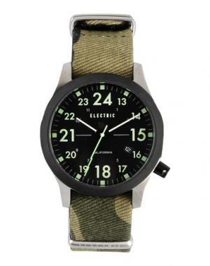 Наручные часы ELECTRIC. Цвет: зеленый-милитари