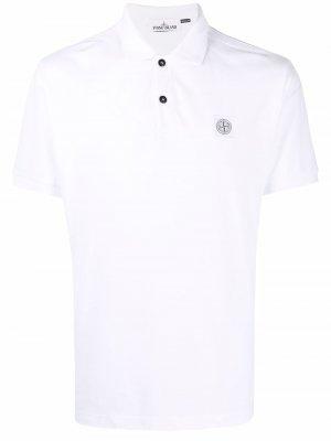 Рубашка поло с нашивкой-логотипом Stone Island. Цвет: белый