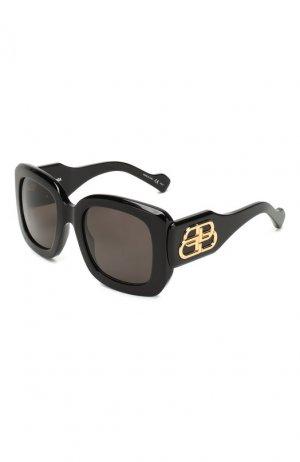 Солнцезащитные очки Balenciaga. Цвет: черный