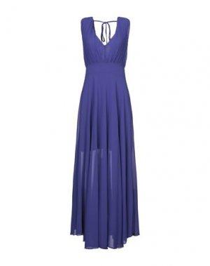 Длинное платье SANDRO FERRONE. Цвет: фиолетовый