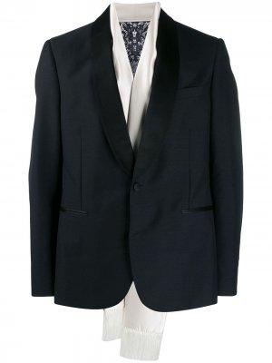 Пиджак-смокинг с шарфом Alexander McQueen. Цвет: черный
