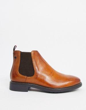 Светло-коричневые кожаные ботинки челси -Коричневый цвет Base London
