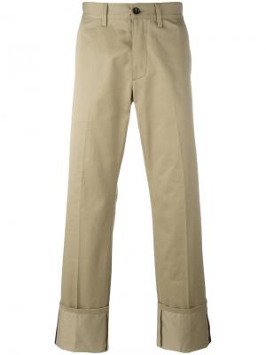 Классические брюки чинос Gucci. Цвет: коричневый