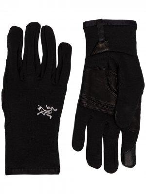Arcteryx перчатки Rivet Arc'teryx. Цвет: черный