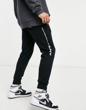 Черные спортивные штаны AAPE By A Bathing Ape Ice Breaker-Черный цвет APE®