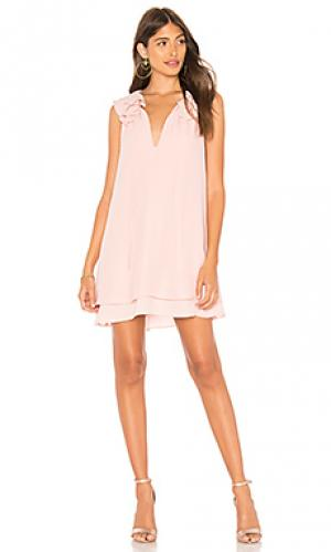Платье belle Amanda Uprichard. Цвет: rose