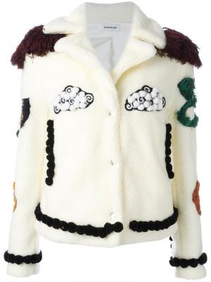 Куртка с нашивками Au Jour Le. Цвет: белый