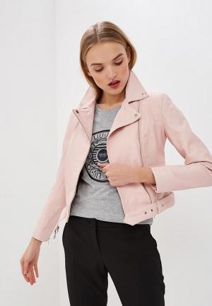 Куртка кожаная Liu Jo. Цвет: розовый