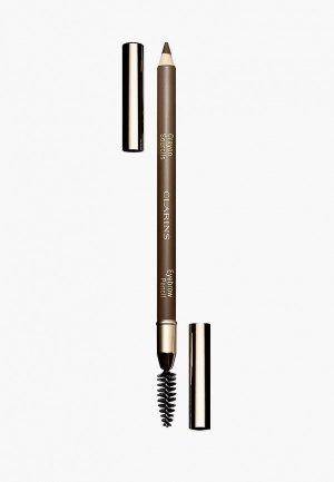 Карандаш для бровей Clarins Crayon Sourcils, 03 soft blonde, 1,1 г.. Цвет: коричневый