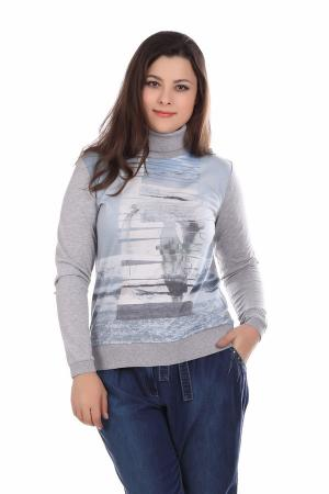 Пуловер Lecomte. Цвет: голубой