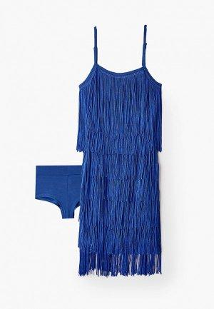 Платье AltraNatura для латино-американской программы. Цвет: синий
