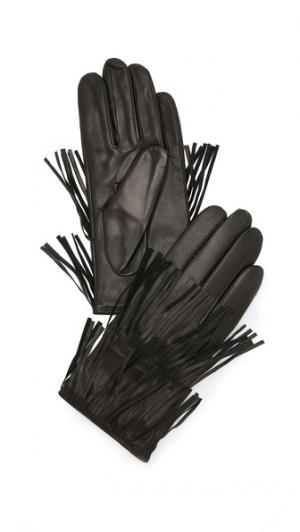 Перчатки с бахромой Carolina Amato