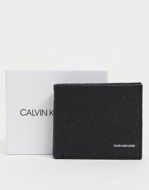 Черный складной бумажник Calvin Klein Jeans