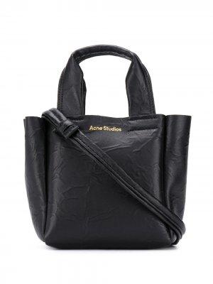 Маленькая сумка-тоут Acne Studios. Цвет: черный