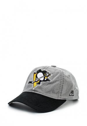 Бейсболка Atributika & Club™ Pittsburgh Penguins. Цвет: серый