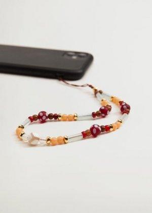 Подвеска из бусин для мобильного телефона - Marbella Mango. Цвет: золотисто-оранжевый