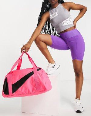 Розовая спортивная сумка-бочонок -Розовый цвет Nike