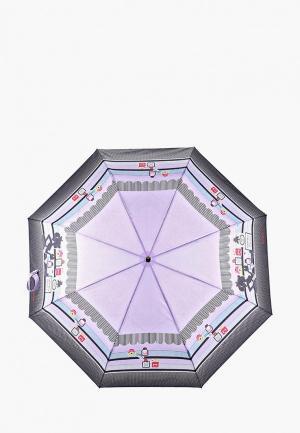 Зонт складной Braccialini. Цвет: фиолетовый