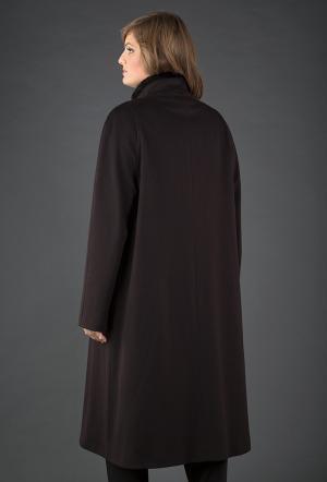 Пальто трапеция большого размера Heresis. Цвет: коричневый