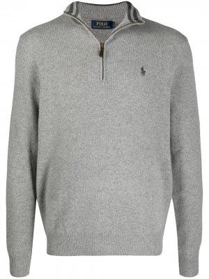 Пуловер на молнии Polo Ralph Lauren. Цвет: серый