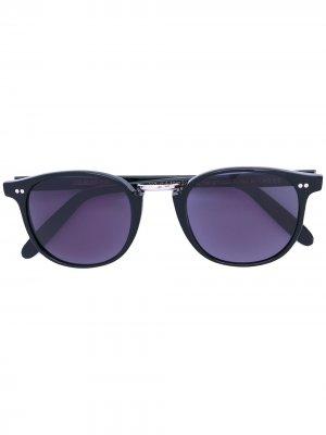 Солнцезащитные очки в круглой оправе Cutler & Gross. Цвет: черный