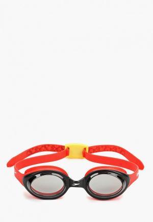 Очки для плавания Speedo. Цвет: красный