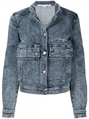 Джинсовая куртка с эффектом потертости Stella McCartney. Цвет: синий