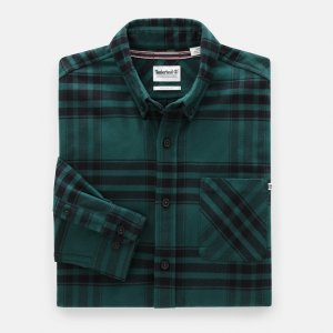 Рубашки Back River Heavy Flannel Regular Shirt Timberland. Цвет: зеленый