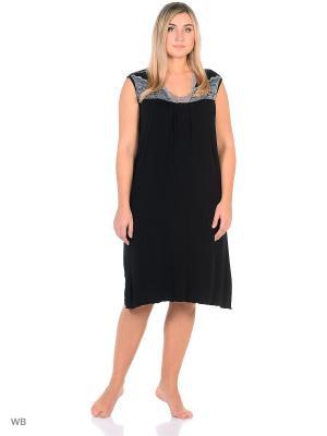 Ночная сорочка больших размеров Flip. Цвет: черный