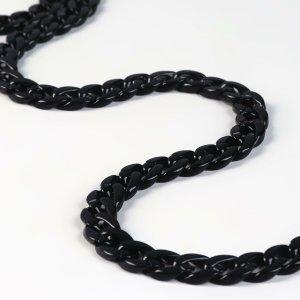 Цепочка для сумки, 15 × 21 мм, 120 см, цвет чёрный Арт Узор
