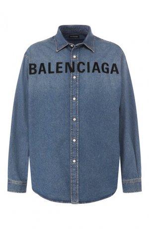 Джинсовая рубашка Balenciaga. Цвет: синий