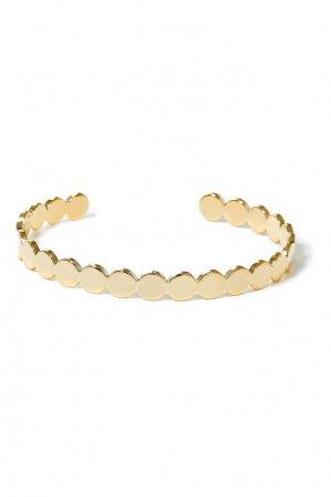 Золотистый браслет с фигурным краем Aqua. Цвет: золотой