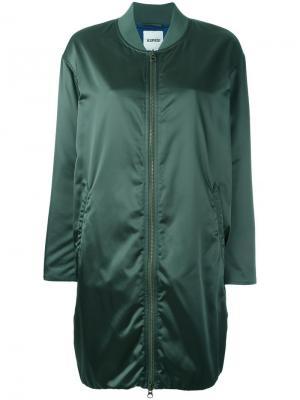 Длинная куртка бомбер Aspesi. Цвет: зелёный