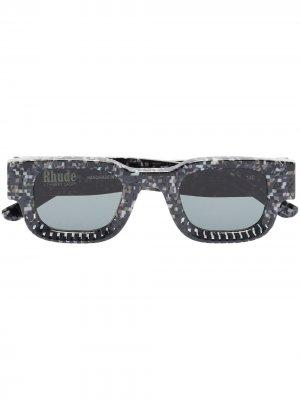 Солнцезащитные очки Rhevision 668 из коллаборации с Rhude Thierry Lasry. Цвет: серый