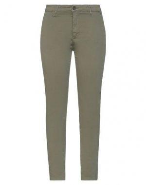 Повседневные брюки H2O ITALIA. Цвет: зеленый-милитари