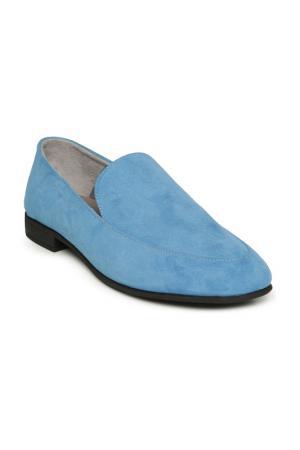 Лоферы Cesare Gaspari. Цвет: голубой