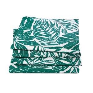 Комплект из 4 салфеток LaRedoute. Цвет: зеленый