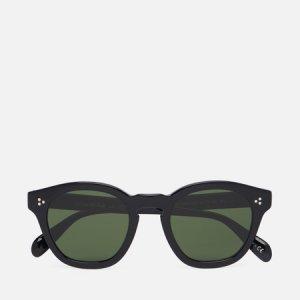 Солнцезащитные очки Boudreau LA Oliver Peoples. Цвет: чёрный