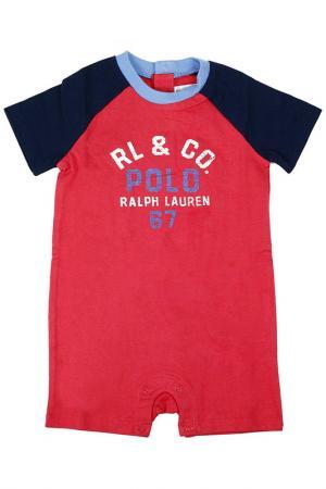 Комбинезон POLO RALPH LAUREN INFANT. Цвет: красный
