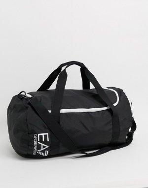 Черная спортивная сумка с логотипом -Черный EA7