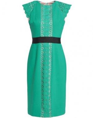 Платье до колена CATHERINE DEANE. Цвет: изумрудно-зеленый